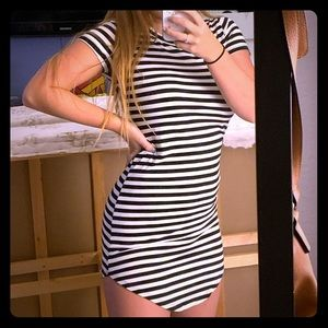 Striped tight dress